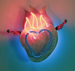 Lili Lakich Blue Flaming Heart